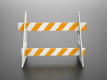 Road barrier orange Royalty Free Stock Photography