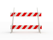 Road barrier red isolated Stock Photo