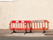 Road barrier on street outside Stock Photography