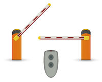 Free Road Barrier. Vector Illustration. Royalty Free Stock Image - 77285186