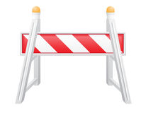 Road barrier vector illustration Royalty Free Stock Image