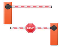 Road barrier vector illustration Royalty Free Stock Photos