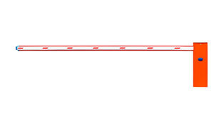 Road barrier on white background Stock Image