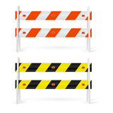 Road barriers Stock Photography