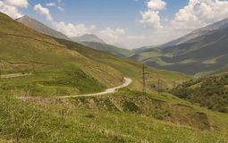 Road among the beautiful mountains.North Caucasus Stock Photo