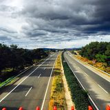 Road. The beautiful nature combine with the road Royalty Free Stock Images