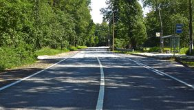 Road.;. Beautiful shot of Zelenogorsk countryroad Stock Photo