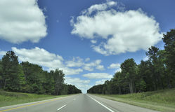 Road and beautiful sky Royalty Free Stock Photography