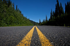 Road. Beautiful view of a lonely road somewhere in British Columbia, Canada Royalty Free Stock Photo