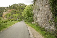 Road Beceite. In Teruel, Aragon, Spain Royalty Free Stock Images