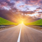 Road beetween mountains Royalty Free Stock Photo