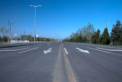 Road. A road in Beijing, China Royalty Free Stock Image