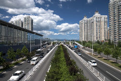 Road. A road in Beijing urban district Stock Photography