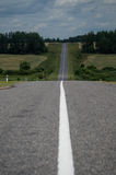 The road in Belarus. Stock Photography