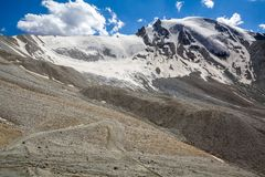 Road bend in scenic Tien Shan mountains Stock Image