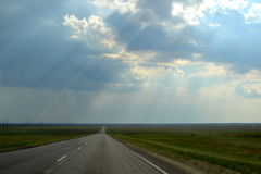Road beyond the horizon. Stock Image