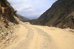 Road in Bhutan Stock Image