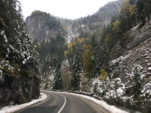 A road through the Bicaz Gorge royalty free stock photography