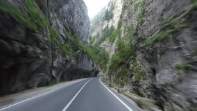 Road in Bicaz Gorge stock video