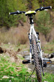 Road bicycle in front of the river Royalty Free Stock Photos