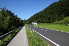 Road and bicycle path Stock Image