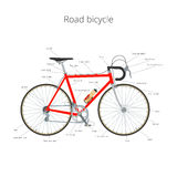 Road bicycle with text Stock Photography