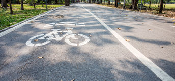 Road for bicycles Royalty Free Stock Photos