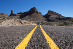 Road through big bend national park texas Royalty Free Stock Image