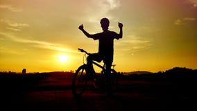 Road bike  cyclist Stock Photo