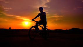 Road bike  cyclist Stock Images