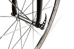 Road bike front hub Stock Images