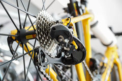 Road bike gear components Royalty Free Stock Images