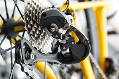 Road bike gear components Royalty Free Stock Image