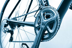 Road bike gear components Stock Photos