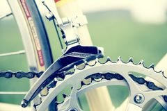 Road Bike, Gear, Vintage Royalty Free Stock Photography