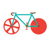 Road Bike vector illustration