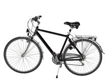 Road bike isolated - clipping path Stock Images