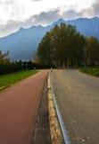 Road and bike path Stock Image