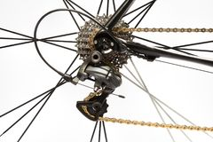 Road bike rear derailleur Stock Photos