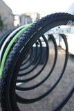 Road bike tires for racing Stock Image