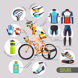 Road Bike Uniforms. Stock Photos