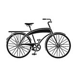 Road bike for walking with a semicircular frame.Different Bicycle single icon in black style vector symbol stock Royalty Free Stock Photography