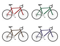 Road bikes with gear shifting vector illustration Royalty Free Stock Image