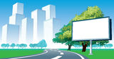 Road billboard Royalty Free Stock Images