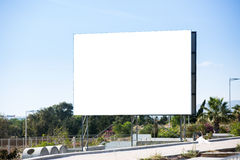 Road billboard with white area inside clipped Stock Photography