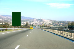 Road and billboards Stock Image