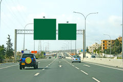 Road and billboards Royalty Free Stock Photography