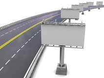 Road  with billboards Royalty Free Stock Images