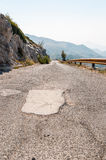 Road in Biokovo mountains Royalty Free Stock Photos