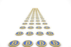 Road of bitcoins Royalty Free Stock Image